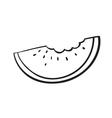 a watermelon slice sketch vector image