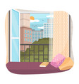 a window with a view tall vector image vector image