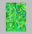abstract geometrical triangular flower page vector image vector image