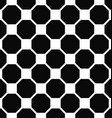 Abstract seamless black and white octagon pattern vector image vector image