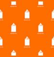 aerosol can pattern orange vector image vector image