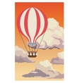 airballoon flying sky sunset clouds vector image vector image