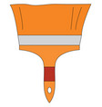 an orange flat painters brush or color vector image vector image