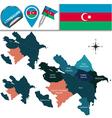 azerbaijan with named divisions