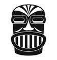 aztec wood idol icon simple style vector image