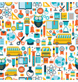back to school seamless background pattern vector image vector image