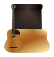 background acoustic guitar vector image