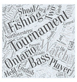 bass fishing tournaments Word Cloud Concept vector image vector image