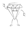 beautiful diamond cartoon vector image