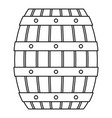 beer wood barrel icon outline style vector image