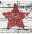 bold star stamp wood red vector image