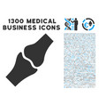 bone joint icon with 1300 medical business icons vector image