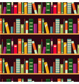 bookshelf seamless pattern with books vector image vector image