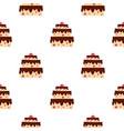 cake pattern seamless vector image vector image