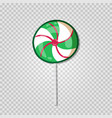 candy lollipop icon isolated on transparent vector image