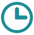 Clock flat soft blue color icon vector image