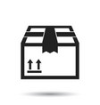 closed box icon shipping pack flat on white vector image