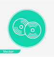 compact disc icon sign symbol vector image vector image