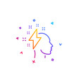 creative brainstorming line icon human head with vector image