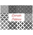 Damask seamless pattern set for wallpaper design vector image vector image