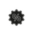 discount percent sign sale percentage - price vector image