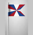 dutch flag the prinsengeus national flag on vector image vector image