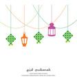 eid mubarak greeting background with vector image