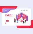 exhibition booth website design vector image vector image