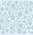 globe earth geography element seamless pattern vector image vector image