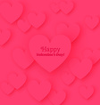 Greeting Card Happy Valentines Day with flat vector image vector image