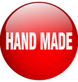 hand made red round gel isolated push button vector image vector image