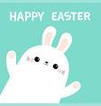 happy easter rabbit bunny head face in the corner vector image
