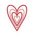 hearts love romance dots linear decoration vector image