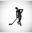 hockey on white background vector image