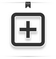 hospital icon on white background vector image vector image