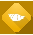 icon of Croissant with a long shadow vector image vector image