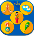 Icons of India vector image vector image