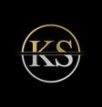 initial ks letter logo design abstract letter ks vector image vector image