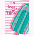 its summer time card concept vector image vector image