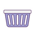 laundry basket isolated icon vector image vector image