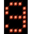 led digits 9 vector image vector image