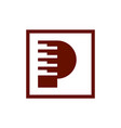 letter p piano abstract logo icon vector image vector image