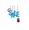 Letters sale hanging on a ropes vector image vector image