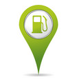 location gas pump icon vector image vector image