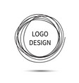 logo design hand drawn circle doodle vector image vector image