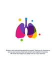 lungs with colorful logo concept health lungs vector image