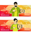 mobile tablet template for banner vector image vector image