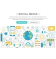 modern line flat design Social media vector image vector image