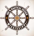 Nautical design vector image vector image