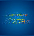 new year 2019 poster design vector image